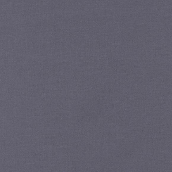 Robert Kaufman Kona Cotton Fabric - Coal - Grey - 1/2 Yard