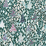 Liberty Of London - Season's Greetings Collection - Blue and Green - Sparkling Forest