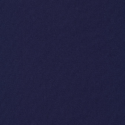 Robert Kaufman Malibu Mid-weight Cotton Poplin Fabric - Midnight Blue - 1/2 Yard