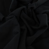 Organic Cotton Brushed Stretch Sweatshirt Fleece - Black - 1/2 Yard