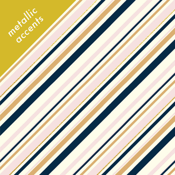 Birch Fabrics Organic Cotton Canvas - Blush Stripes - Mod Nouveau - 1/2 Yard