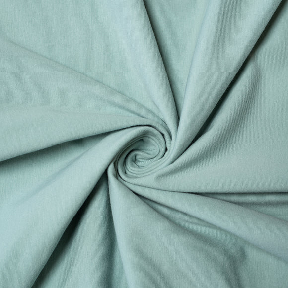 Mineral Organic Jersey Knit Fabric by Birch Organics - Green / Turquoise - 1/2 yard