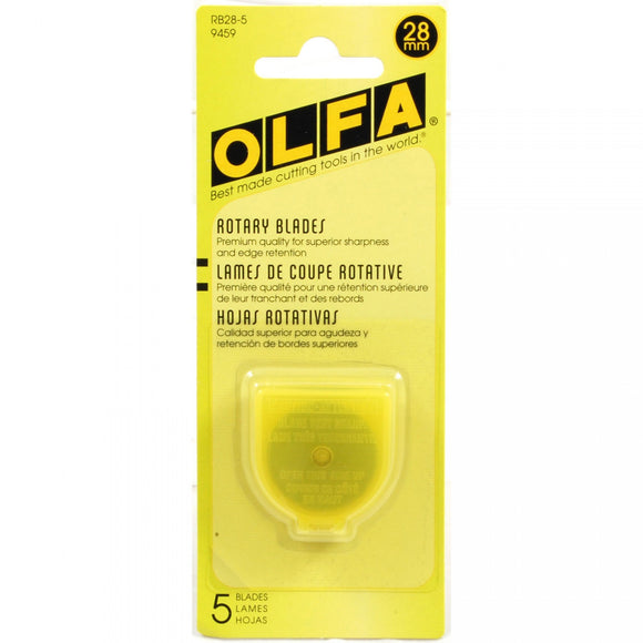 Olfa - 28mm Tungsten Tool Steel Rotary Blades - 5 pack