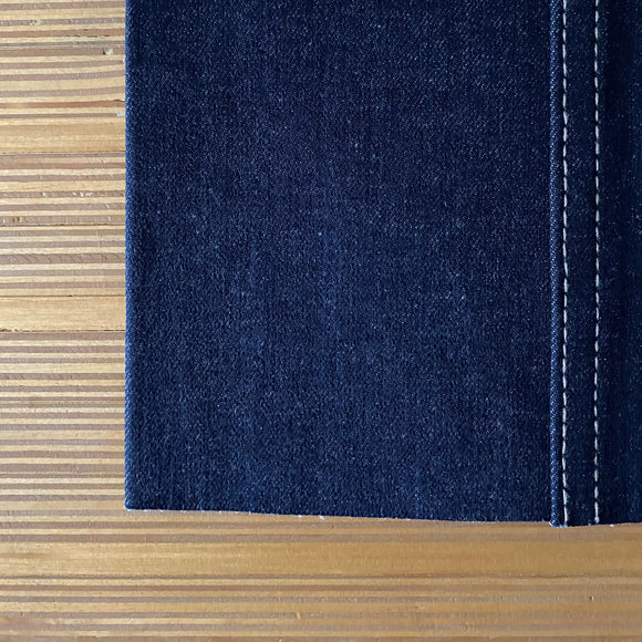Cone Mills - S-Gene Stretch Denim - Cotton & Tencel - Natural Dark Indigo -  10.75 oz - 1/2 Yard