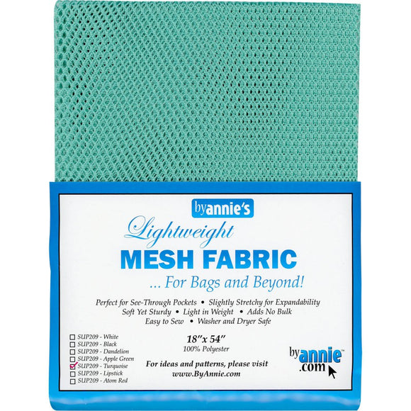 By Annie Lightweight Mesh Fabric Turquoise - 1/2 Yard by 54