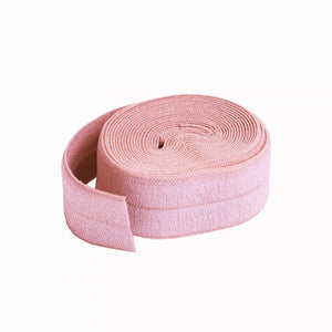 "3/4"" (20mm) Fold Over Elastic FOE - Baby Pink - By The Yard"