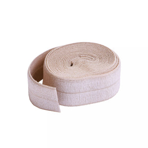 "3/4"" (20mm) Fold Over Elastic - Natural - 2 Yards"