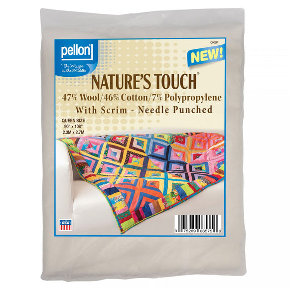 Pellon Nature's Touch 50/50 Wool/Cotton Blend - Queen Size 90