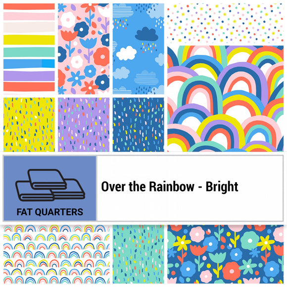 Paintbrush Studio - Fat Quarter Bundle - Over the Rainbow - Bright - 11 FQ / 2.75 Yards