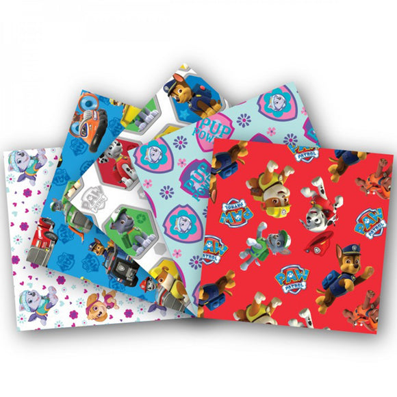 Paw Patrol - Fat Quarter Fabric Bundle - All the pups - 5 FQ / 1.25 Yards