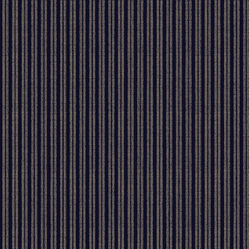 Quilt Gate Cotton Canvas Fabric - Indigo II Shima Stripe - Hyakka Ryoran - 1/2 Yard