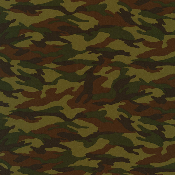 Sevenberry for Robert Kaufman - Camouflage - Cotton Fabric - 1/2 Yard