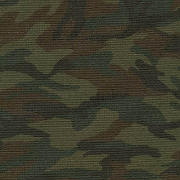 Sevenberry for Robert Kaufman - Olive Camouflage - Cotton Printed Twill 6.35oz - 1/2 Yard