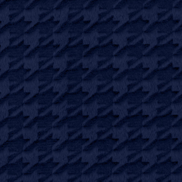 Shannon Cuddle® Minky Embossed Houndstooth Navy Fleece - per 1/2 Yard