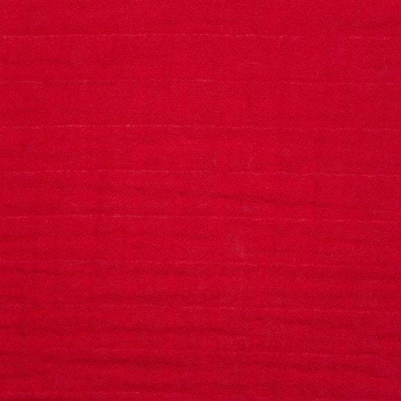 Shannon Embrace Cotton Solid Double Gauze in Ruby Red - 1/2 Yard