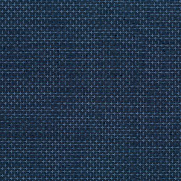 Robert Kaufman Indikon Sashiko Chambray - SRK-16720-67 - Denim Blue - 1/2 Yard