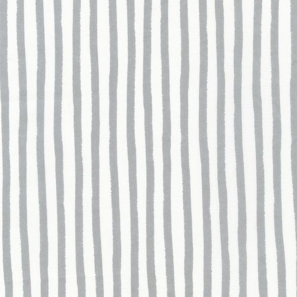Robert Kaufman - Dots and Stripes Delight - Grey Stripes - Cotton Fabric - 1/2 Yard