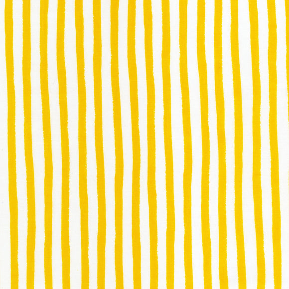 Robert Kaufman - Dots and Stripes Delight - Yellow Stripes - Cotton Fabric - 1/2 Yard