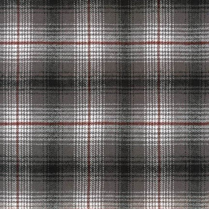 Robert Kaufman Tahoe Flannel Fabric Smoke - 1/2 Yard