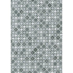 Robert Kaufman - Winter's Grandeur - Metallic - Silver Grey - 1/2 Yard