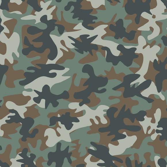 Dear Stella Designs - Jungle Green Camo - Incognito - 1/2 Yard