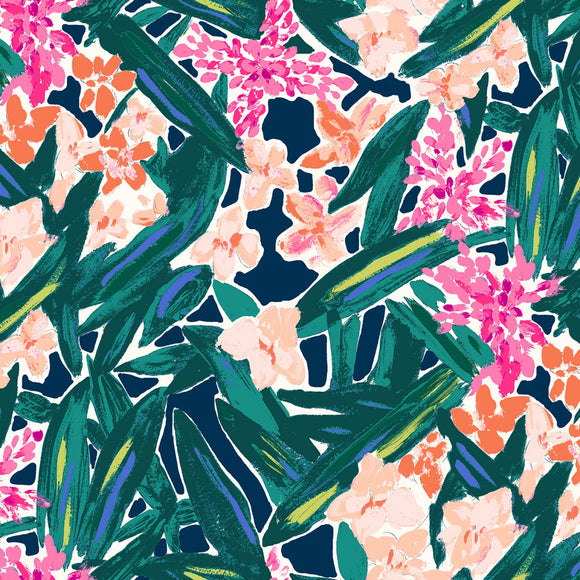 Dear Stella Floral Breeze Jersey Knit - 1/2 Yard