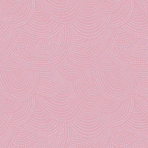 Dear Stella Designs Chroma Basics Cotton Fabric - Scallop Dots - Lilac Pink - 1/2 Yard