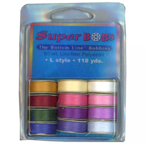 Superior Threads SuperBOBs Bottom Line Prewound Assortment Set #3 Bright L-style 118 Yards