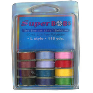 Superior Threads SuperBOBs Bottom Line Prewound Assortment Set #3 Jewel L-style 118 Yards