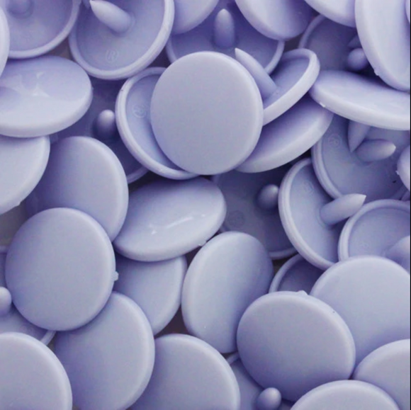 KamSnaps Plastic Snaps Size 20 - BG108 Bubble - Purple - Glossy - Package of 20 Sets