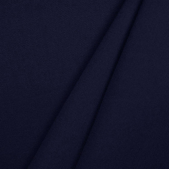 Organic Cotton Spandex  Twill - 1/2 Yard - Navy