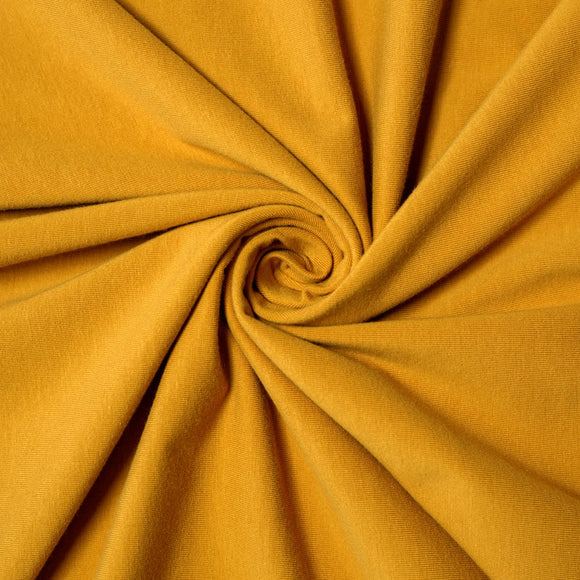 Bamboo/Cotton Stretch Jersey - Dark Mustard - 1/2 Yard
