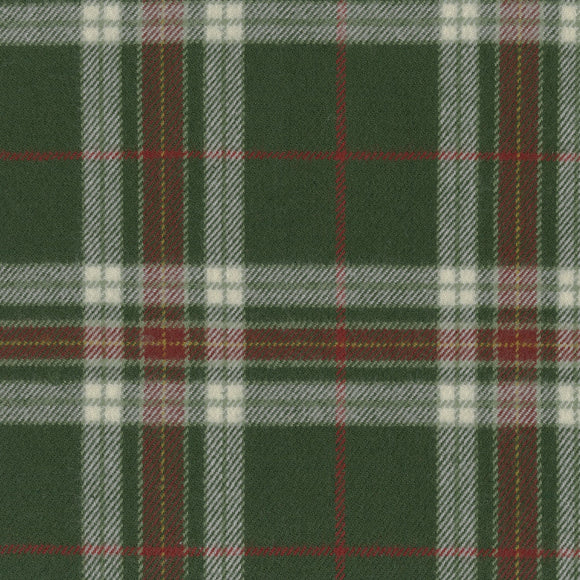 Marcus Fabrics - Primo Lumberjack Plaid Flannel - Green and Red Plaid - Cotton Flannel - 1/2 Yard