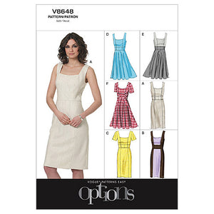 Vogue - V8648 Misses' Princess Seam Dresses (Sizes 6-8-10-12)