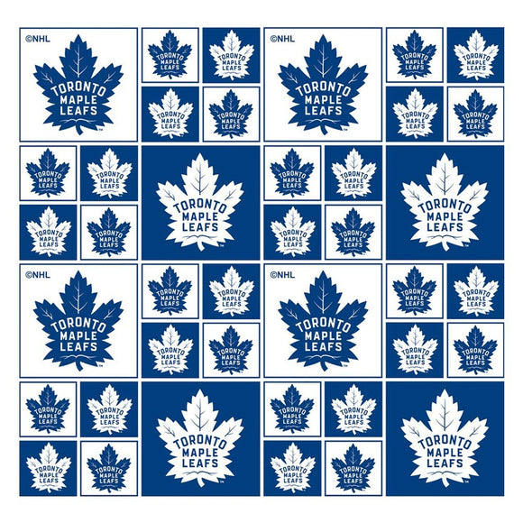 NHL Toronto Maple Leafs Cotton - Sykel Enterprises - Cotton Fabric - 1/2 Yard