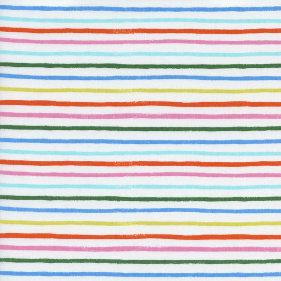 Rifle Paper Co. for Cotton & Steel - Amalfi - Happy Stripes - Cream - Cotton Lawn - 1/2 Yard