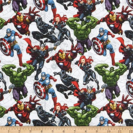 Marvel - Avengers Unite- Springs Creative - Multi - Cotton Fabric - 1/2 Yard