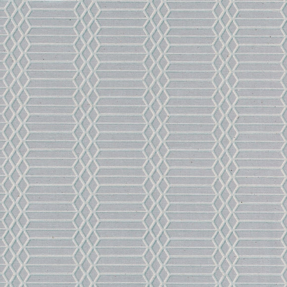 Cotton & Steel - Panorama - Dandy Bars - Cloud Unbleached Cotton Fabric - 1/2 Yard
