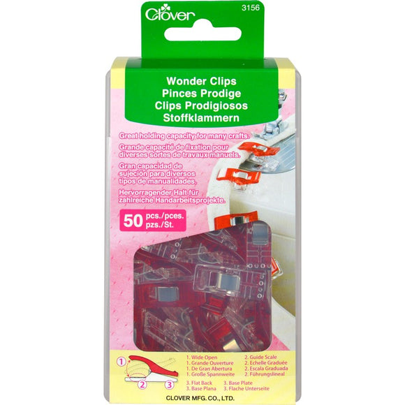 CLOVER - Wonder Clips - 50 Count 50Pcs