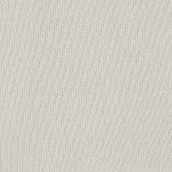 Bamboo Cotton Rib 2x2 - Vanilla - Natural / Cream Ribbed Knit - 1/2 Yard