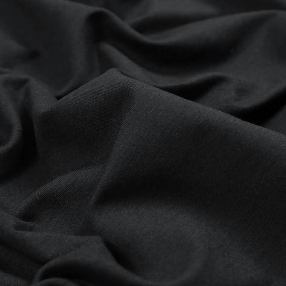 TENCEL™ Lyocell Organic Cotton French Terry - Black - 1/2 Yard