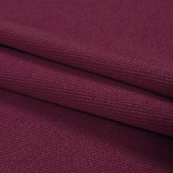 TENCEL™ Lyocell Organic Cotton 2x2 Ribbed Knit - Burgundy - 1/2 Yard