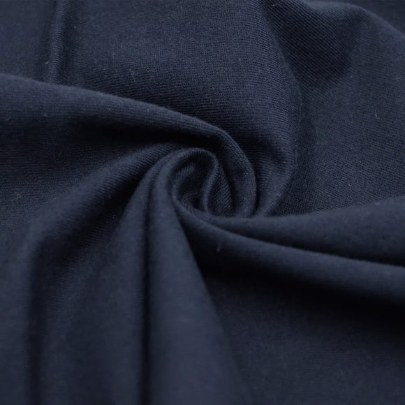TENCEL™ Lyocell Organic Cotton French Terry - Navy - 1/2 Yard