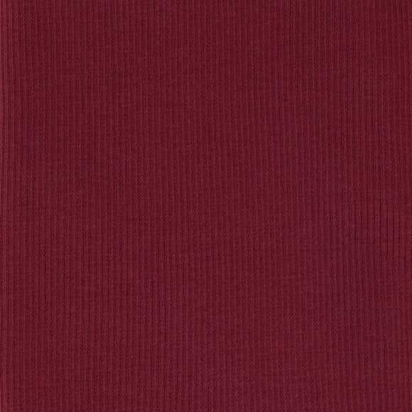Bamboo Cotton Rib 2x2 Burgundy - 1/2 Yard