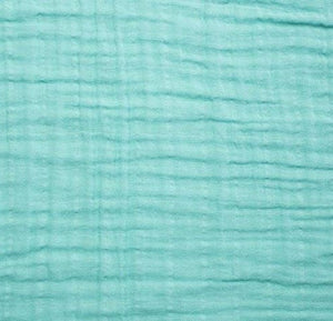 Shannon Embrace Cotton Solid Double Gauze Fabric in Aruba