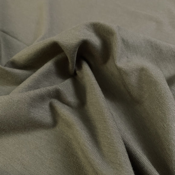 Bamboo/Cotton Stretch Jersey - Olive - 1/2 Yard