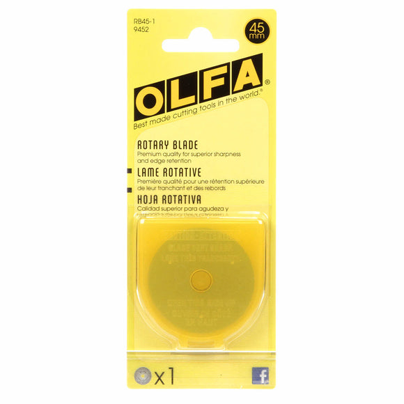 Olfa - 45mm Tungsten Tool Steel Rotary Blades - 1 pack