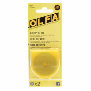 Olfa - 45mm Tungsten Tool Steel Rotary Blades - 2 pack