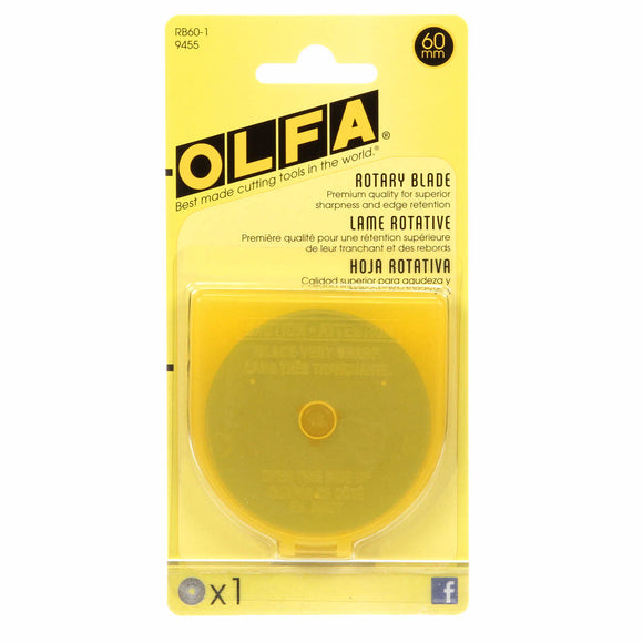 Olfa - 60mm Tungsten Tool Steel Rotary Blades - 1 pack