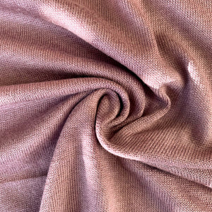 Rayon Cotton Modal Sweater Knit - Mellow Mauve - 1/2 Yard